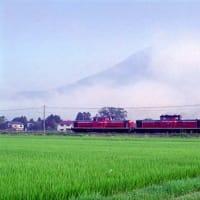 磐越西線電化区間でDD51貨物列車を撮影した日