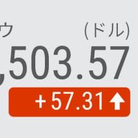 8日 NYダウ平均 続伸57ドル高 長期金利低下でハイテク株に買い