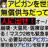 ◆アビガンを世界30か国に無償供与だって?まず日本人に出せ!オーバーシュート・医療崩壊・大量死・医療従事者の感染が防げる!マスク2枚も緊急事態宣言もいらない。必要なのはアビガンだけ!