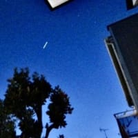 ISS国際宇宙ステーションが見えた