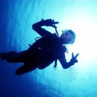 船と体験ダイバー!