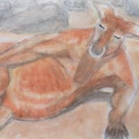 楽描き水彩画「コロナ自粛の日の1枚」