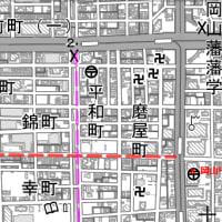 岡山市の県庁通り1車線化、1月14日に着工 広い歩道でにぎわう「シンボルゾーン」に。。不要不急の工事