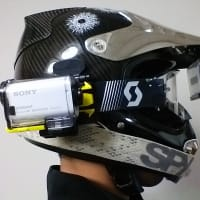 GoProとSony action camの装着 sena20s vfx-w
