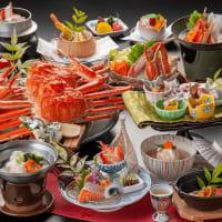 三朝温泉 蟹の食べ疲れ