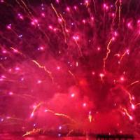 テレビで諏訪湖花火を