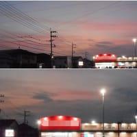 台風一過後の 昨日の 夕焼け