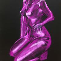 Nude-Muse-angel-Tableau-ヌード-芸術-アート-絵画:不二子スーツ
