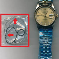 ロレックス(ROLEX) デイトジャスト(Ref.16233G/ダイヤ付き)のオーバーホール・ゼンマイ交換・全体仕上げ(ケース・ブレス磨き)を承らせて頂きました