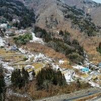 道の駅いくさかの郷特産市&古坂区方面の風景