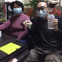 コロナウイルス対策バージョンで烏龍茶をいただきました。
