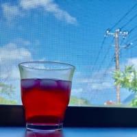 赤紫蘇ジュースと自家製ゆかり