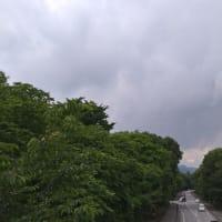 雨来るぞ〜の空