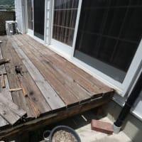 自作木製デッキの解体