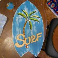 中学生教室とハワイ風サインボード
