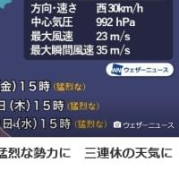 来週に最強台風の襲来?