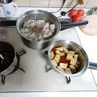 里芋の親芋料理。