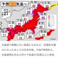 今日も日本全体が熱くなります。今までに無い暑さです。熱中症に気をつけましょう。