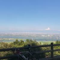 多度山から木曽三川を眺める