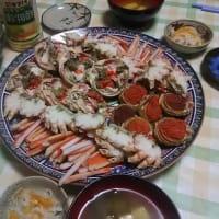 日曜日は、次女夫婦に来ていただき・・・カニ三昧!魚市で買い出し・・・やっぱりにぎやかに食べるのが一番ですね。