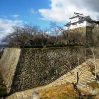 <津山散策㊤津山城跡> 往時の豪壮な城郭を物語る重厚な石垣