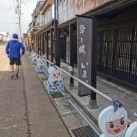 高田地区市街地ランで21キロ。