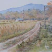 水彩お絵描き思い出めくり№34「大海山」