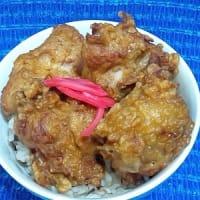 熊本ハーブ鶏唐揚げなお総菜で昼食、出来たてぬくぬくだったのでね:P