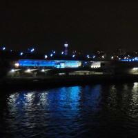 そして、帰りは夜船で…