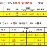 〔お知らせ〕2020審判講習会・研修会計画表(1/9版)