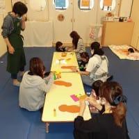 ベルナデッタ木曜日クラス 親子遊び 英語であそぼう ミノムシ制作
