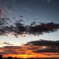 日の出(爆焼け)