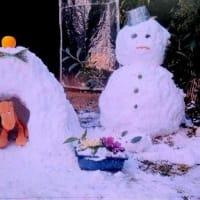 雪だるまと かまくらと 雪うさぎ