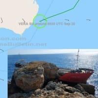 トルコの貨物船がブルガリアの海岸に直進した
