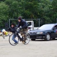箕面市立止々呂美中学校で、スケアード・ストレートによる自転車安全教室を実施しました。