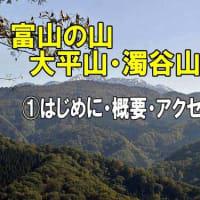 【富山の山】魚津市より【大平山・濁谷山】登山の紹介