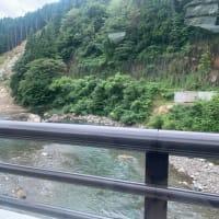 蔵作町のがけ崩れ付近は釣り禁止