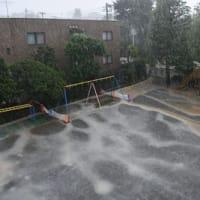 激しい雨と雷