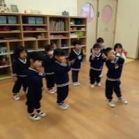 エンジェルクラス わかば組・ひよこ組 ダンス、バスコース並び
