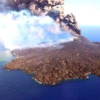 黄砂ではない、西ノ島火山活動の噴煙か