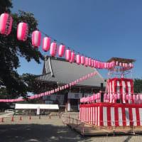 赤皮栗かぼちゃの料理と本門寺の盆踊り(の準備)
