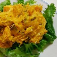 きのことお豆の混ぜご飯&かぼちゃのサラダ