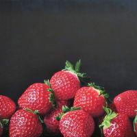 岡山の親友が運営するギャラリー深学舎に新作《苺》の油彩画を送りました‼️