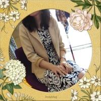 カラージャケットを羽織ってきれいめコーデ-ヨーロッパファッション-フランスインポートワンピース