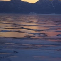 夕日の屈斜路湖 Lake Kussharo