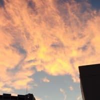 台風一過の青空と夕焼け雲が綺麗⛅