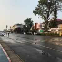 タイ国道22号と212号線の三叉路