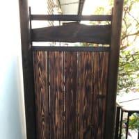 庭木戸の補修