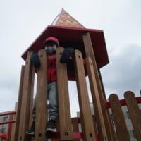幼稚園の外遊び