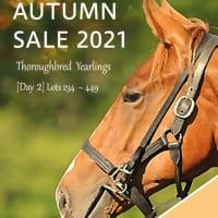 【オータムセール2021(Autumn Sale、1歳)】の「上場馬名簿(2冊目)」が発行
